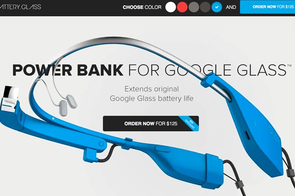 Power bank for Google Glass